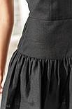 Платье-клеш на тонких бретельках черное, фото 4