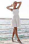 Платье-клеш на тонких бретельках белое, фото 2