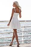 Платье-клеш на тонких бретельках белое, фото 4