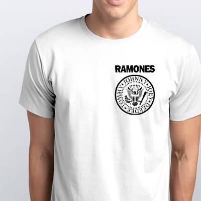 Футболки мужские, RAMONES, лого