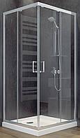 Душевая кабина SANTEH 1902100 100х100 с поддоном 15см, прозрачное стекло