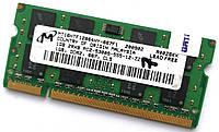Оперативная память для ноутбука Micron SODIMM DDR2 1Gb 667MHz 5300S 2R8 CL5 (MT16HTF12864HY-667F1) Б/У, фото 1