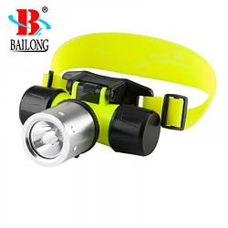 Налобний ліхтарик для дайвінгу Bailong BL-56 ліхтар