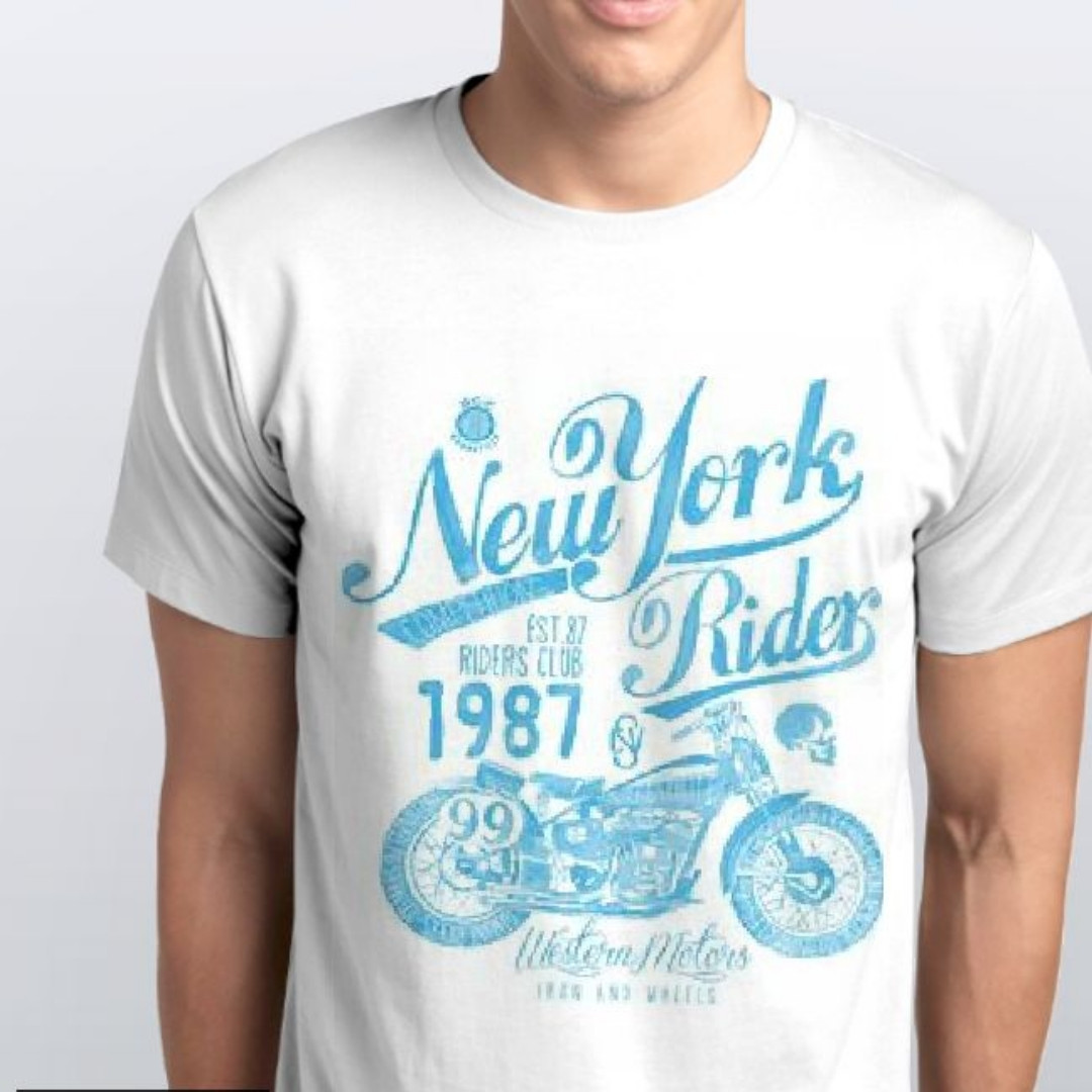 Футболки мужские, мотоцикл, New York
