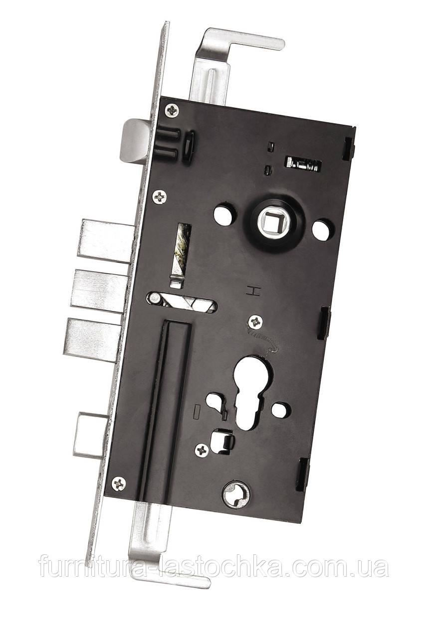 Дверной замок для китайской двери (нижний), под цилиндровый механизм, 1024.