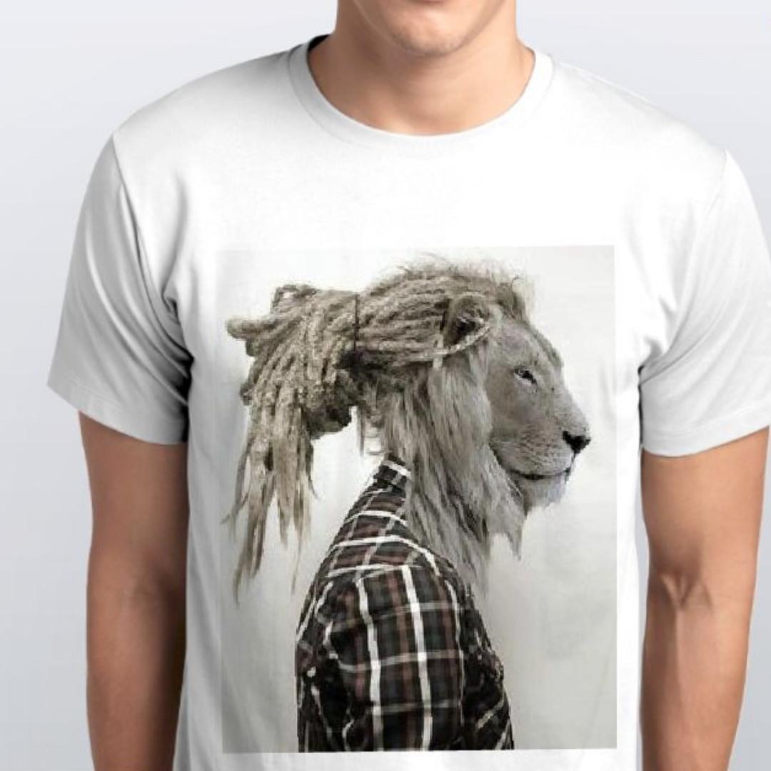 Футболка мужская  лев в пиджаке
