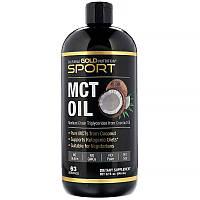 """Масло МСТ California Gold Nutrition, Sport """"MCT Oil"""" триглицериды средней цепи из кокосового масла (946 мл)"""