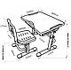 Комплект парта + стул трансформеры Vivo Grey FUNDESK, фото 7