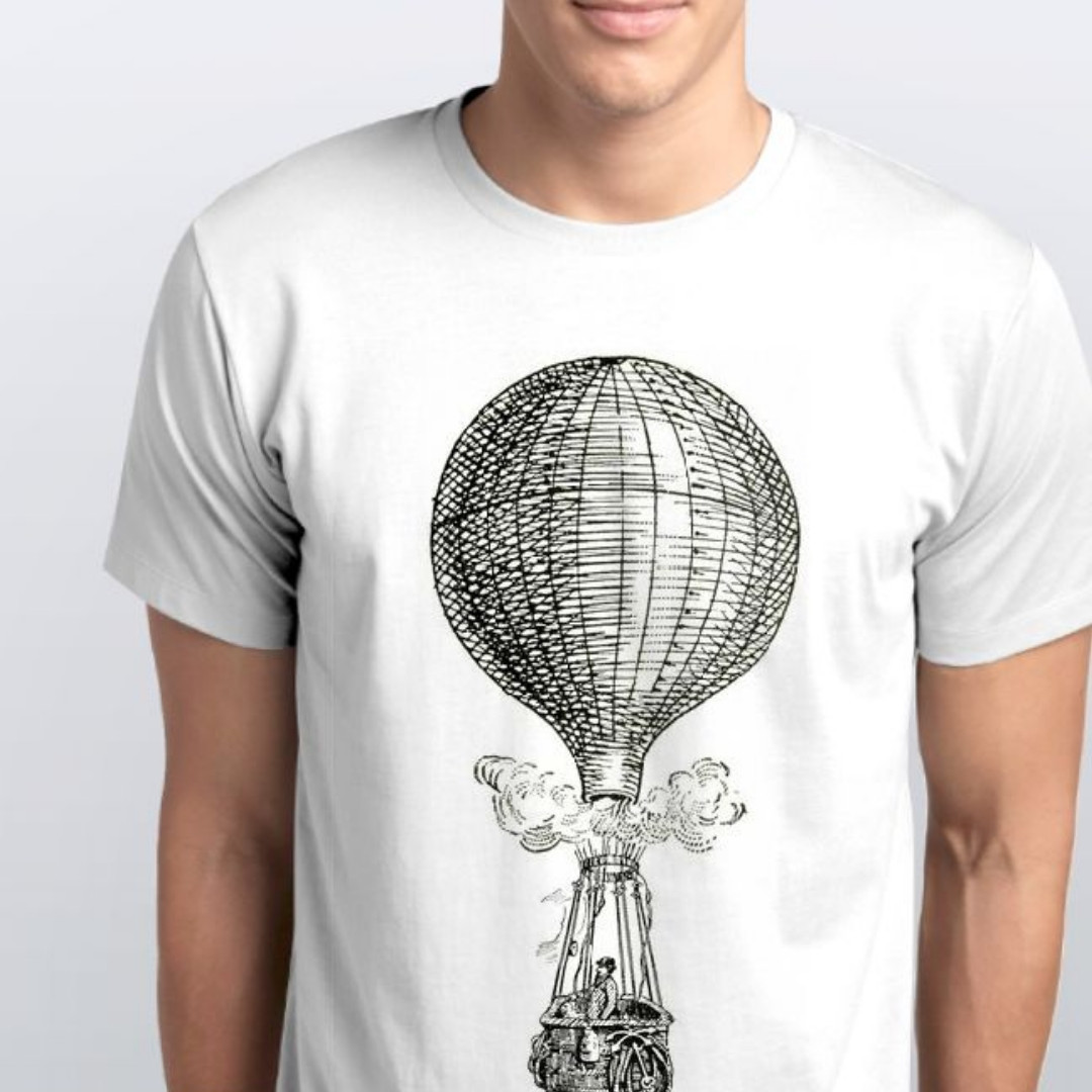 Футболки мужские. Воздушный шар