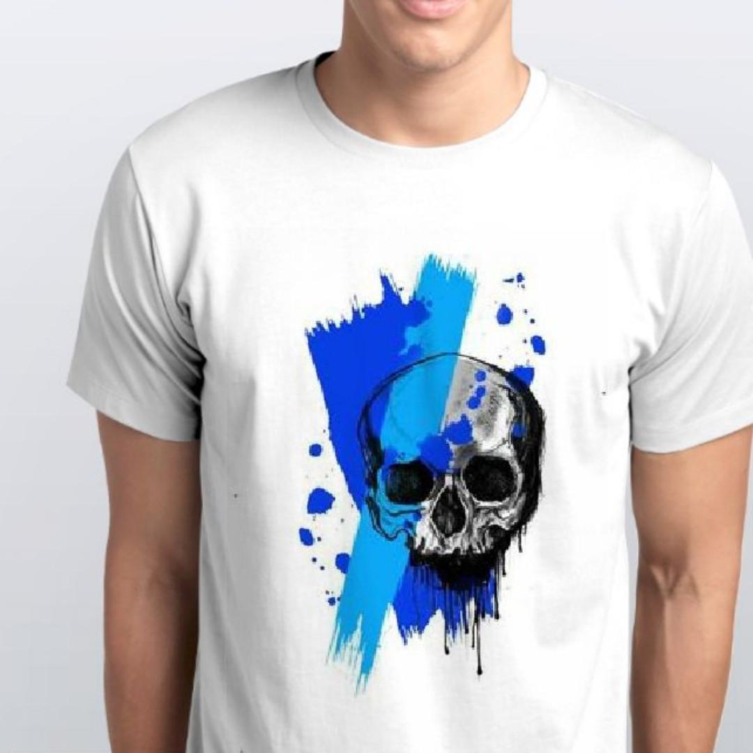 Футболка мужская Голубой череп