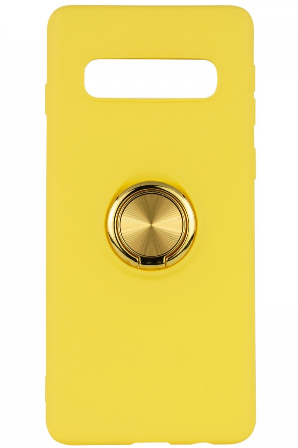 Чохол-накладка ColoRing для Samsung Galaxy S10 Plus Summer Ser. TPU+PC З тримачем Жовтий (972102)