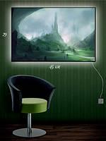 Картина с подсветкой 29х45 «Неизведанная планета»