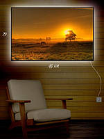 Картина с подсветкой 29х45 «Лошадь на пастбище»