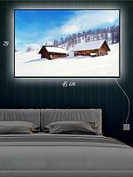 Картина с подсветкой 29х45 «Домики в снегу»