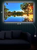 Картина с подсветкой 29х45 «На тихом пруду»