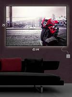 Картина с подсветкой 29х45 «Мотобайк Suzuki»