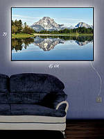 Картина с подсветкой 29х45 «Горное отражение»