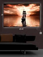 Картина с подсветкой 29х45 «Корабль призрак»