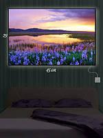 Картина с подсветкой 29х45 «Цветы на берегу»