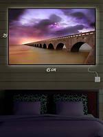 Картина с подсветкой 29х45 «Мост в фиолетовом свечении»