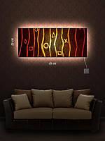 Картина с подсветкой 29х69 «Крестики нолики»