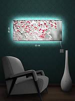 Картина с подсветкой 29х69 «Рябиновые ветви»