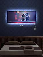 Картина с подсветкой 29х69 «Пряничный домик»