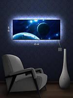 Картина с подсветкой 29х69 «Свечение в космосе»