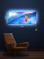 Картина с подсветкой 29х69 «На краю планеты»