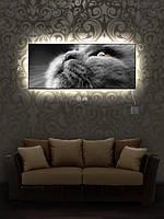 Картина с подсветкой 29х69 «Преданность»