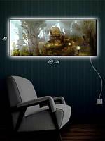 Картина с подсветкой 29х69 «Сказочный город»