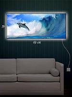 Картина с подсветкой 29х69 «На гребне волны»