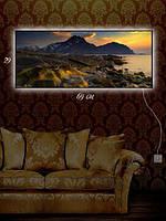Картина с подсветкой 29х69 «Каменные валуны»