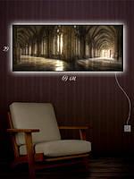 Картина с подсветкой 29х69 «Стены музея»