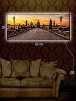 Картина с подсветкой 29х69  «По городской мостовой»