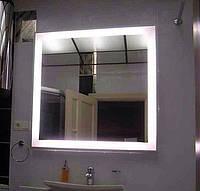 Зеркало в ванную, прихожую, спальню, настенное влагостойкое с LED, с лед подсветкой прямоугольное под заказ