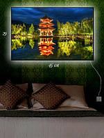 Картина с подсветкой 29х45 «Китайская беседка»