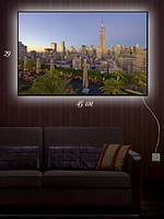 Картина с подсветкой 29х45 «Романтика ночного города»