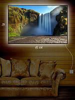 Картина с подсветкой 29х45 «Серебряные струи водопада»