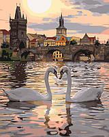 Картины по номерам / обложка.  Романтическая Прага  40х50см арт. КНО4135