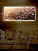 Картина с подсветкой 29х69 «Прогулка по крыше»