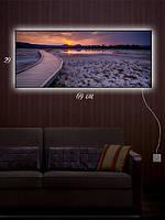 Картина с подсветкой 29х69 «Закат на пирсе»