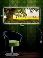Картина с подсветкой 29х69 «Рапсовое поле»