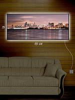 Картина с подсветкой 29х69 «Светящийся город»