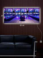 Картина с подсветкой 29х69 «В боулинге»