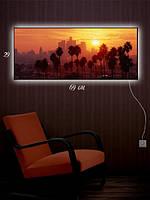 Картина с подсветкой 29х69 «Пальма-де-Майорка»