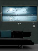 Картина с подсветкой 29х69 «Гуси-лебеди»