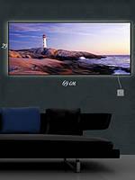 Картина с подсветкой 29х69 «Одинокий маяк»