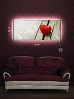Картина с подсветкой 29х69 «Сердечко»