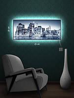 Картина с подсветкой 29х69 «Отражение в воде»